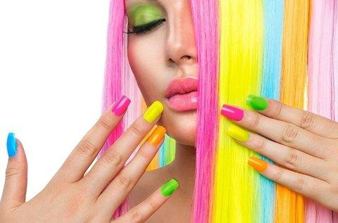Választható géllakkozás vibráló vagy neon színekben
