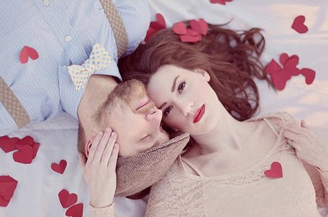 Valentin-napi egyéni vagy páros fotózás