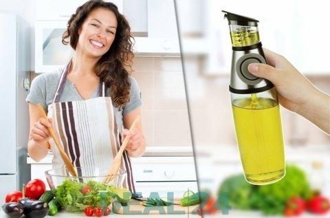 Mérőpoharas olaj- vagy ecettároló