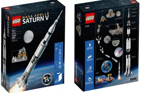 LEGO NASA Apollo Saturn V rakétamodell