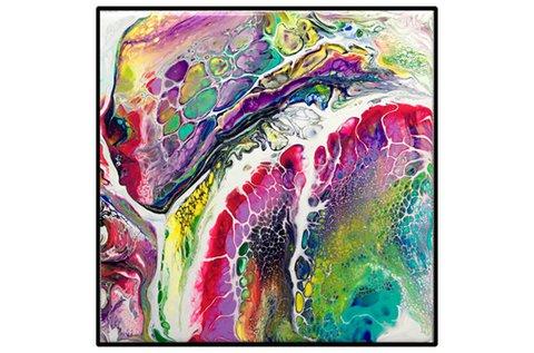 Fluid Art workshop 2 db festmény készítésével