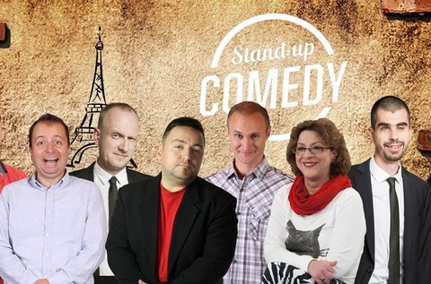 Stand up comedy humorest francia vacsorával