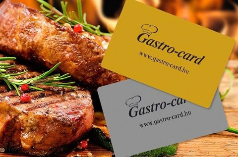 6 hónapos Gastro-Card ezüst kártya 2 főre