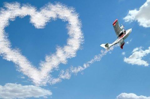 Romantikus páros repülés választható útvonalon