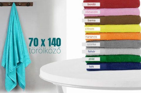 70x140 cm-es frottír törölköző több színben