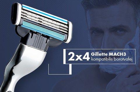 2x4 db-os Gillette MACH3 kompatibilis borotva szett