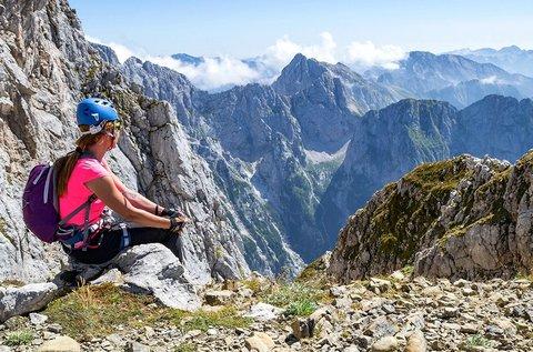 Via ferrata a Júliai-Alpok hegyvonulatai között