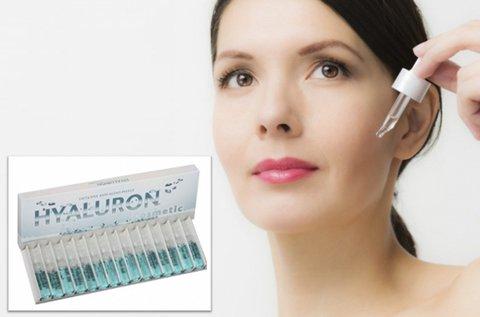 15 db bőrfiatalító Hyaluron Cosmetic ampulla