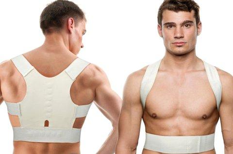 Tartásjavító, mágneses hátpánt fehér színben