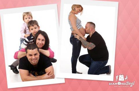 Hangulatos családi fotózás műteremben