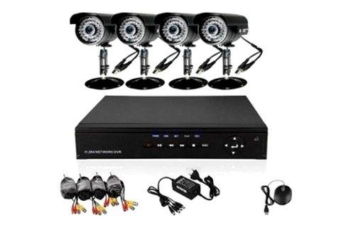 4 kamerás megfigyelő rendszer kül- és beltérre