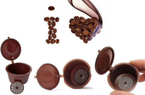 2 db újratölthető szilikon kávékapszula