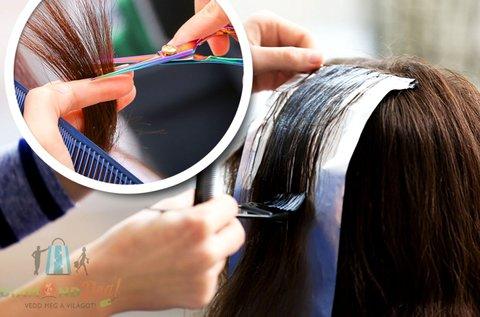 Melírozás hajvágással rövid vagy félhosszú hajra