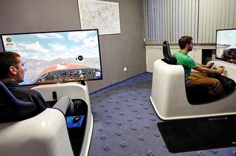 60 perces virtuális repülés szimuláció 1 fő részére