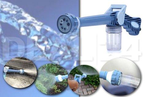 Multifunkciós vízágyú locsolófej mosószertartállyal