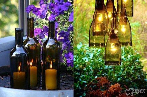 Készíts kreatív alkotásokat borospalackból!