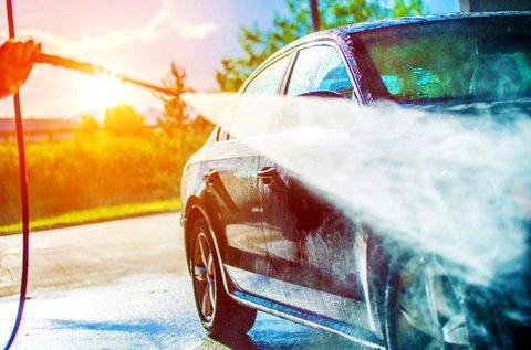 Külső aktívhabos autómosás kárpittisztítással