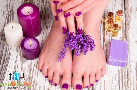 Esztétikai pedikűr kéz és láb géllakkozással