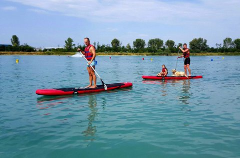 Stand up paddle evezés 2 főre a gyáli Fundy-tavon
