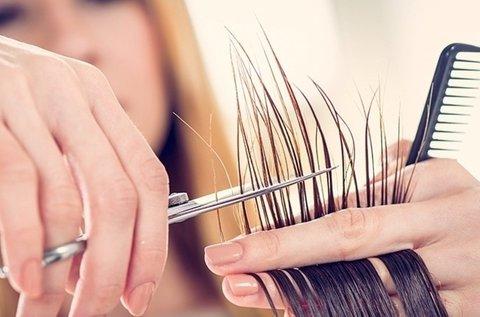 Divatos új frizura női hajvágással, beszárítással