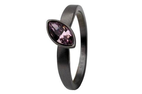 Skagen női gyűrű fekete színben, több méretben