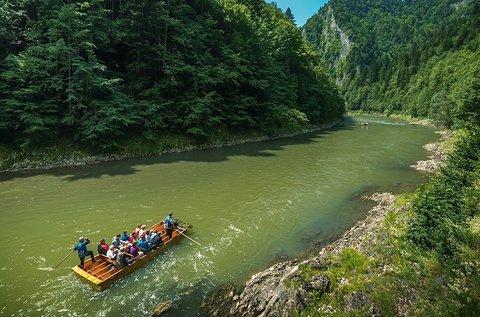 Tutajozás a Dunajec kanyarulatain, buszos úttal
