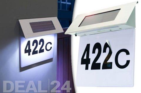Modern dizájnú napelemes LED házszámtábla