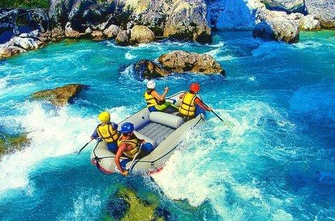 Rafting hétvége a boszniai Boracko-tónál